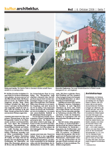 Basler Zeitung article about Architekturtage 2008 and Triath